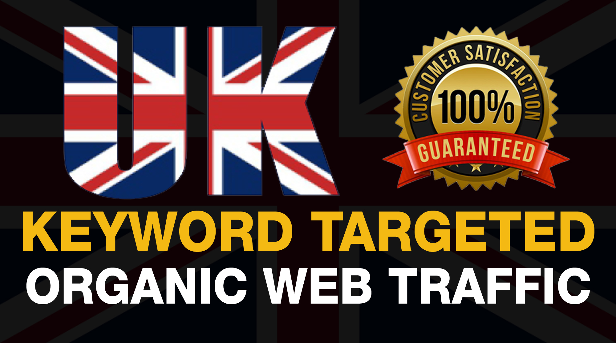 we will drive keyword targeted and real organic UK web traffic