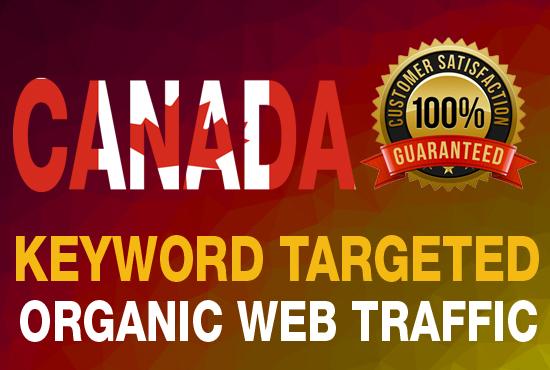targeted CANADA traffic real Google organic visitors
