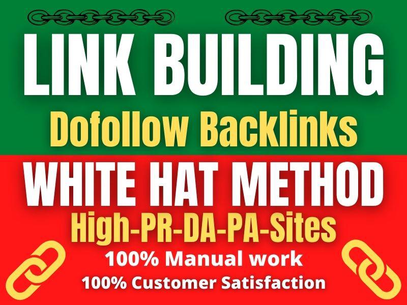 manually create 20 High PR DA dofollow backlinks white hat method link building offpage SEO service