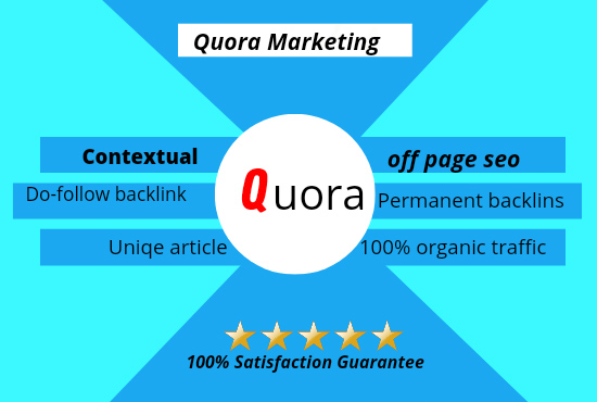 Guranted traffic To Your Website with 10 High quality QUORA Answer
