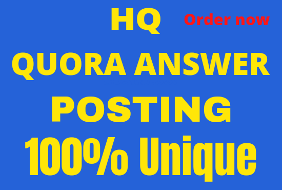 Promote your website with 20 high quality Quora answer posting