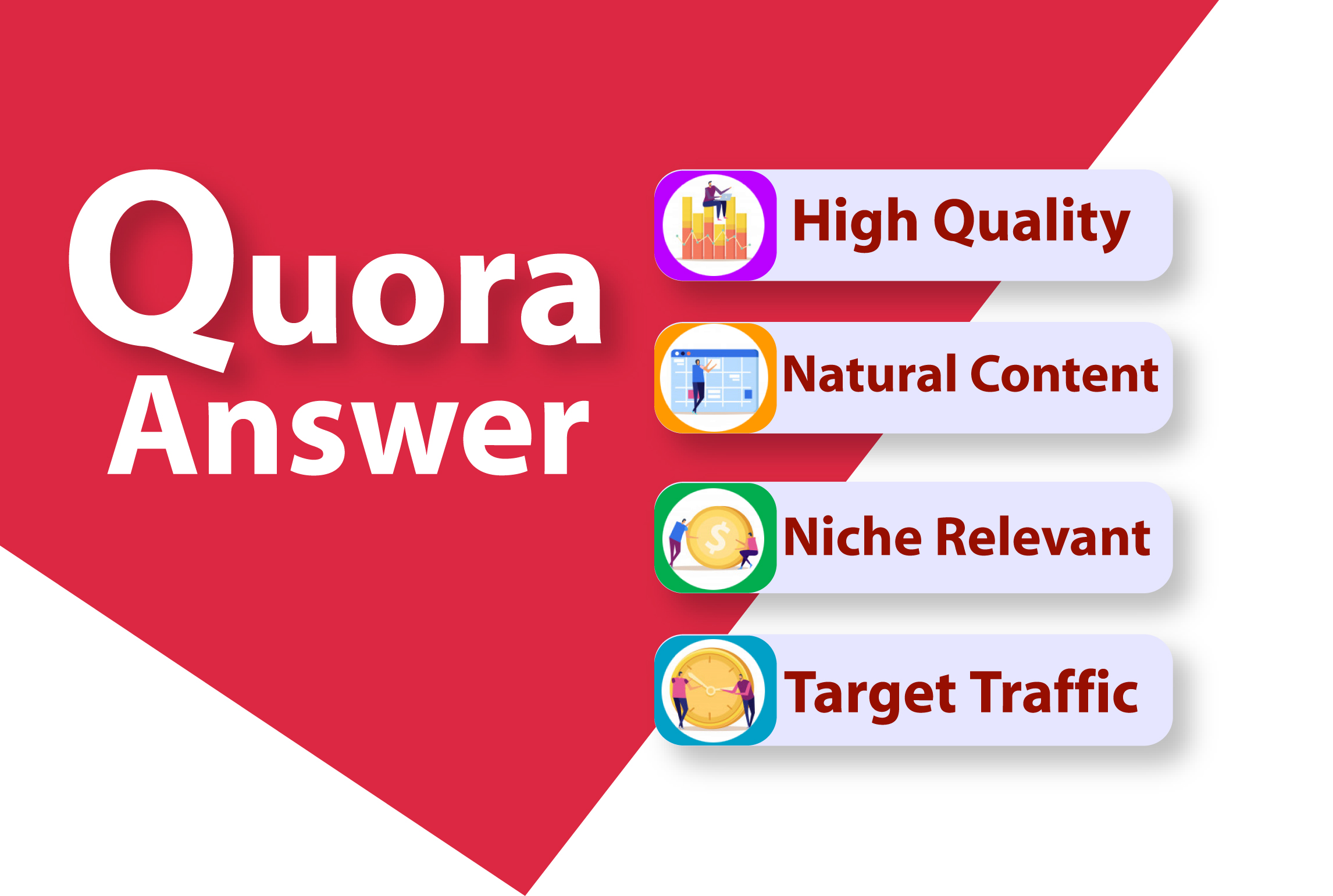 20 High Quality Quora Answer With Your Keywords & URL