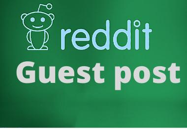 5 Reddit Guest posts for promoting website