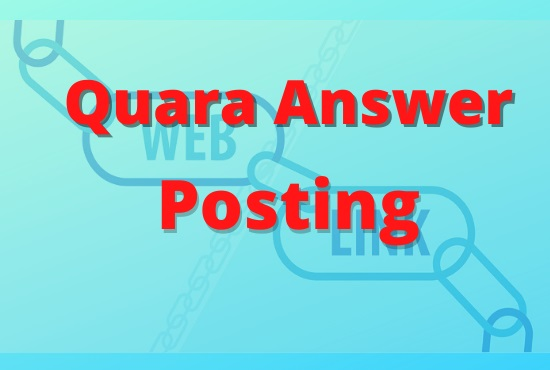 Grab your 10 High-Quality Quora Answers with niche relevant keyword for your websites.
