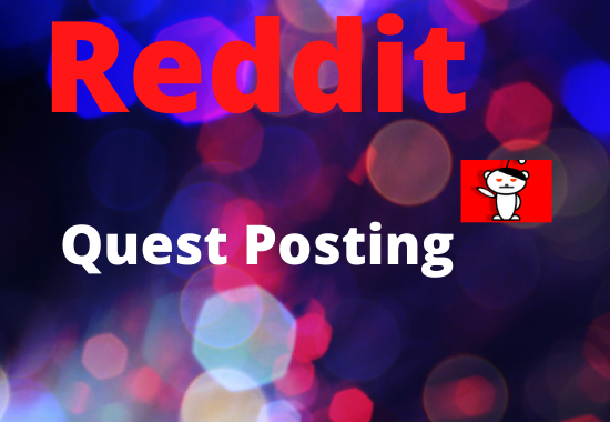 Promote Website with 5 High Quality Reddit Guest Post
