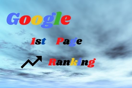Google 1st Page Ranking Guranteed on your website monthly SEO Service