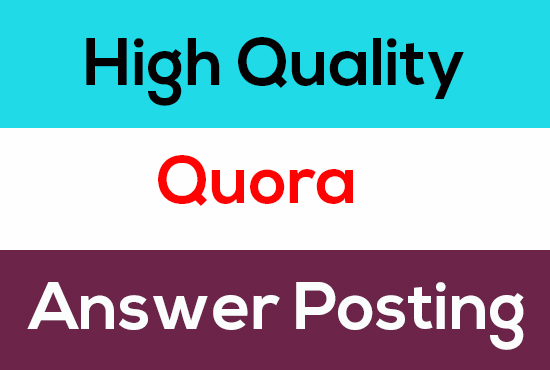 3 High-Quality Unique Quora Answer get targeted traffic
