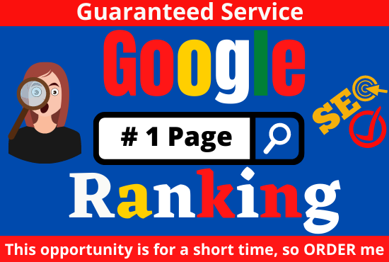 I will do full SEO service to rank your website on google 1st page one keyword