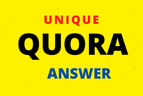 Promote your website 5 unique high quality Quora Answer