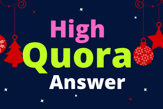 I will Provide 30 High Quality Quora Unique Answer Posting