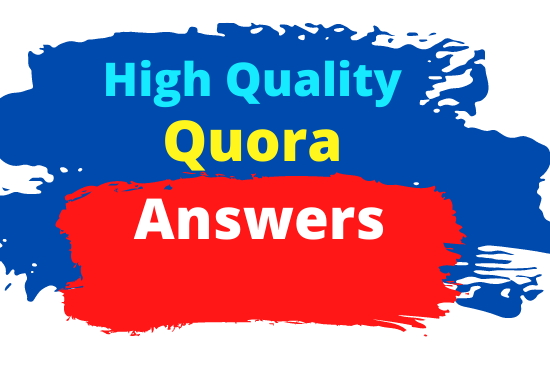 I will provided 20 Powerful Quora Answer with your Keyword and URL