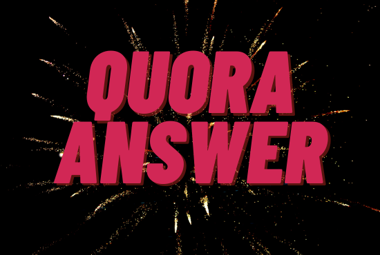 Promote your website with 5 quantity Quora Answers With Link