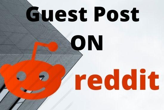 Website promotion Create backlinks 5 HQ Reddit guest post