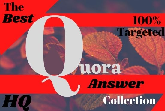 Recommend your website 5 hq Quora answer posting