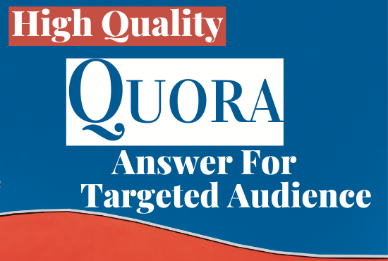 10 HQ Quora answer posting with your keyword & url