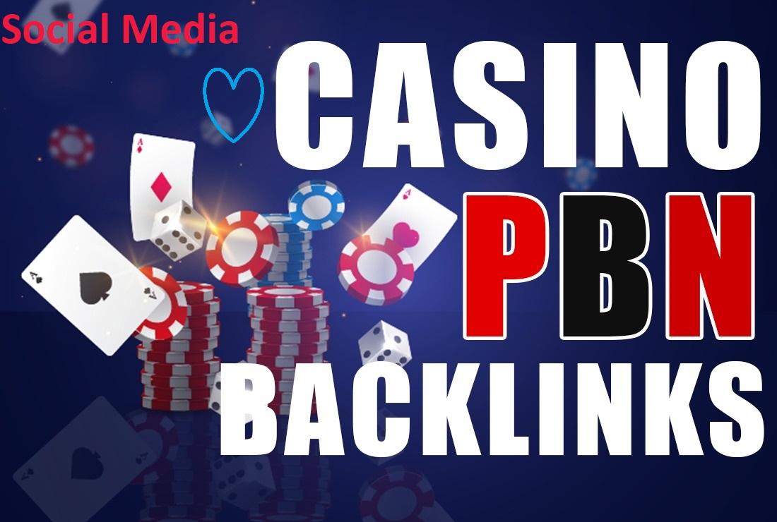 I will do high quality 100+ Casino PBN gambling poker HQ backlinks google rank