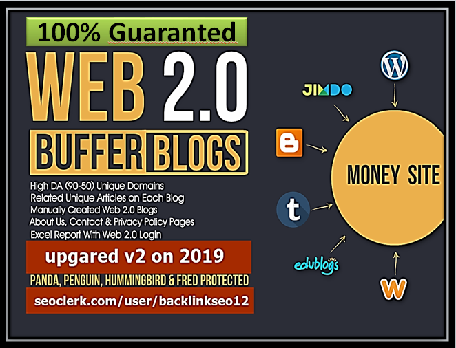 I will provide 60+ high da web 2.0 backlinks to boost your ranking