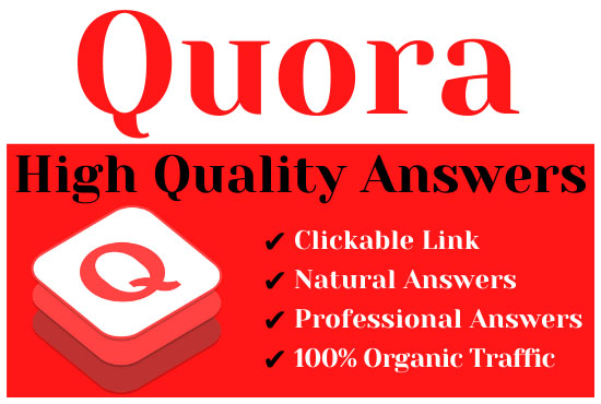 Offer 4 high quality quora answers with your keyword & url