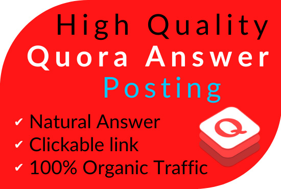 Promote your website in 5 HQ Quora Answers with contextual link
