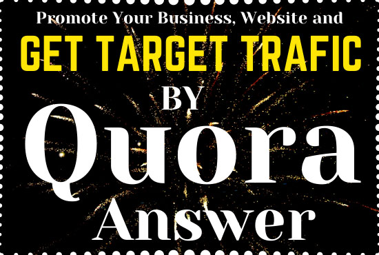 Promote your business or website in 50 unique High quality Quora Answers with your keyword and URL