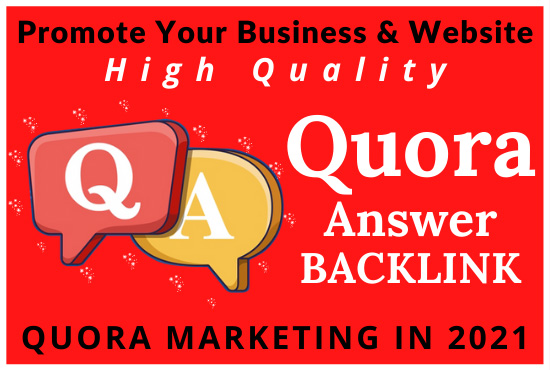 Promote Your Website & Business In 10 HQ Quora Answer With Clickable Backlinks