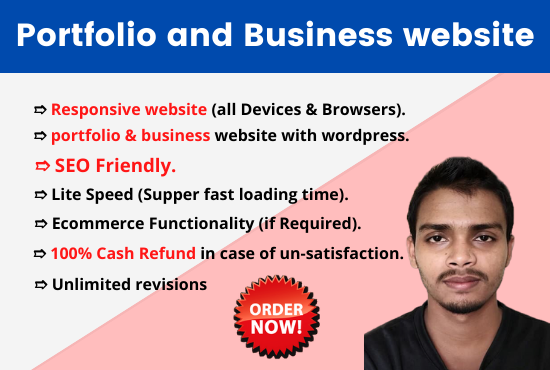 I will create a personal portfolio, business and eCommerce responsive WordPress Website