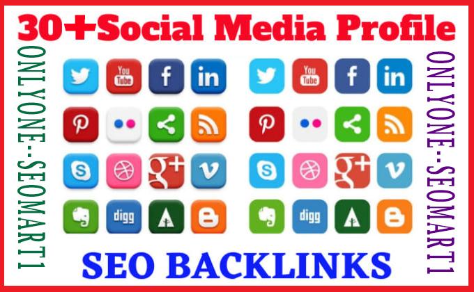 I will do 100 social media profile backlinks