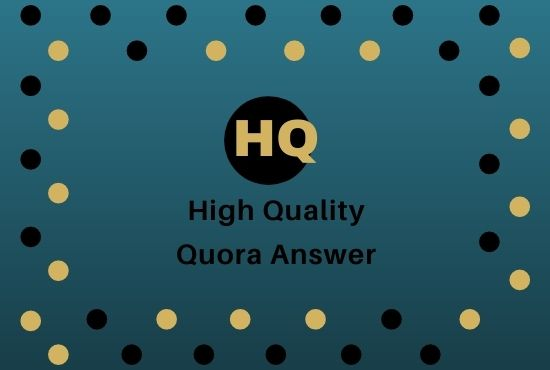 Promote your website 5 high quality Quora answers with your keyword and URL