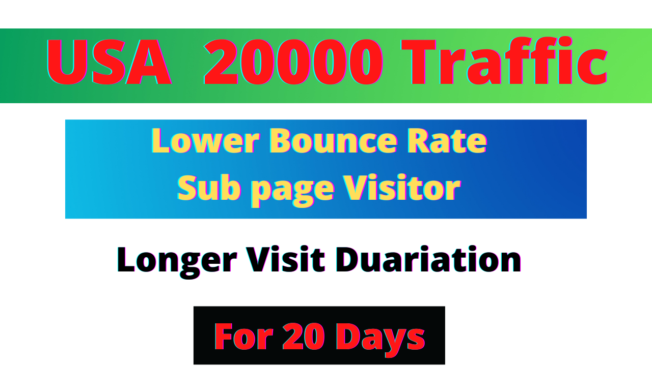 i will bring real USA Targeted Web Traffic