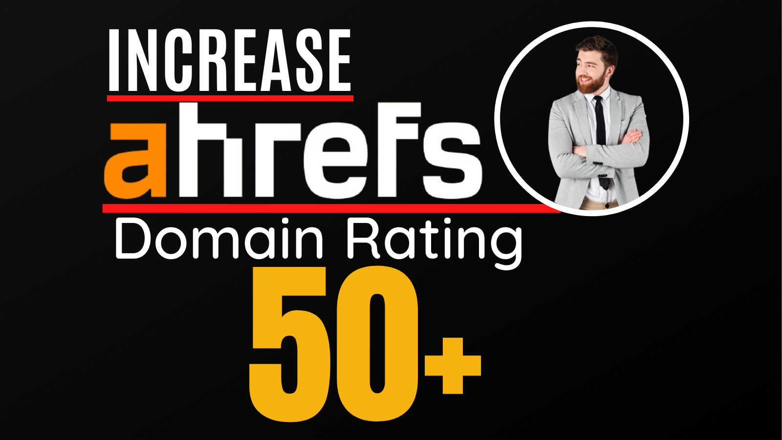 I will increase ahrefs domain rating,  increase ahrefs DR 50 plus