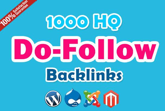 Do 1000 HQ Do-Follow Backlinks For Local Business