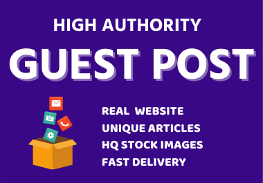 Write and Publish 5 High Guest Posts on DA 50+ Plus Powerful Backlinks