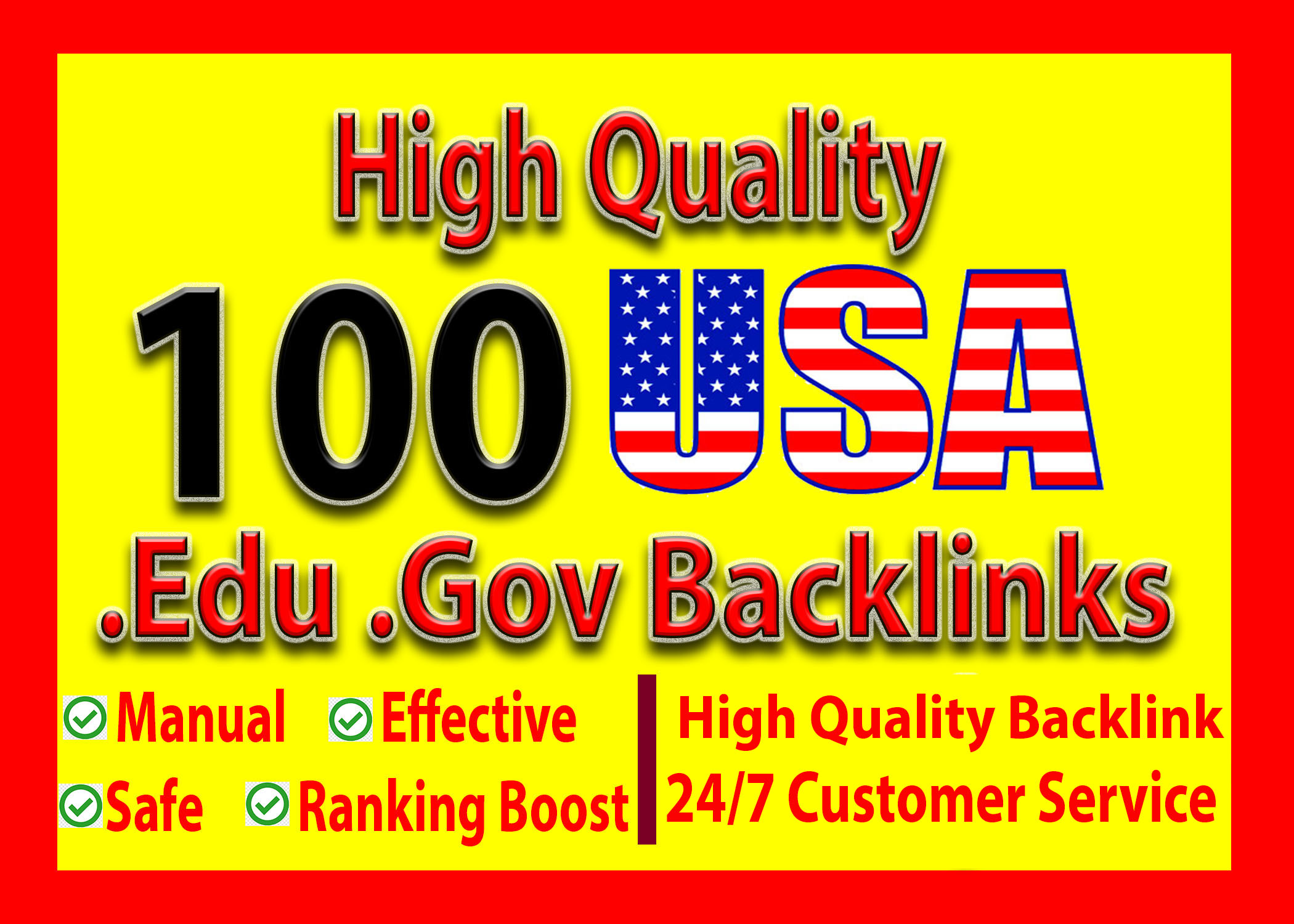 I Will Build 100 USA High Authority Edu Gov Backlink For Google Top Ranking