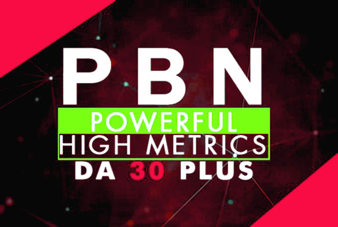 I will do 200 permanent homepage pbn backlinks da 30 plus