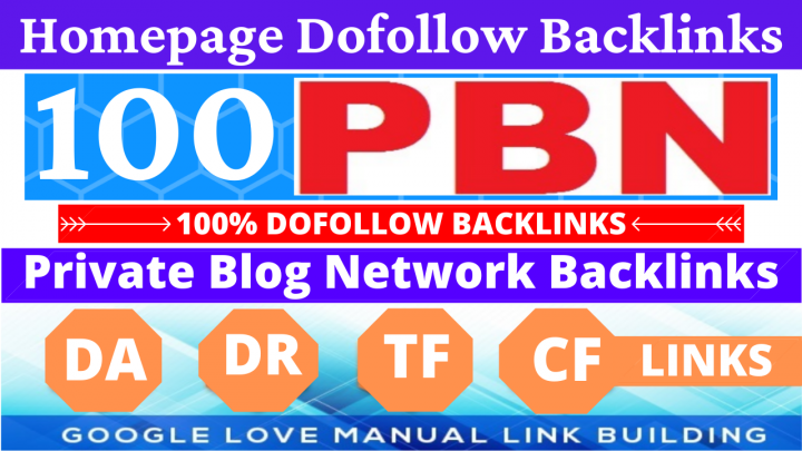 Permanent 100 PBN Backlinks All Dofollow High Quality Backlinks with unique websites