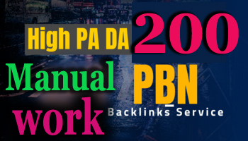 I will do Manual work 200 permanent pbn backlinks da pa Authority