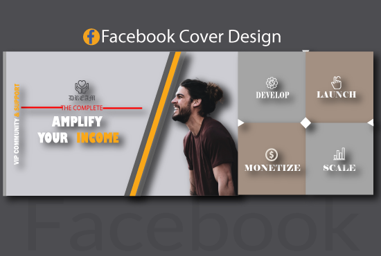 I will design professional Facebook cover and banner