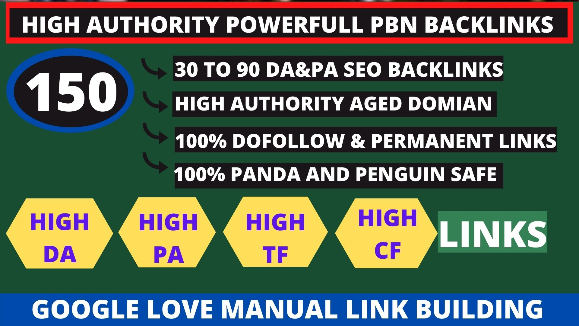 Get powerfull 150+ pbn backlink with high DA/PA/TF/CF on your homepage with unique website