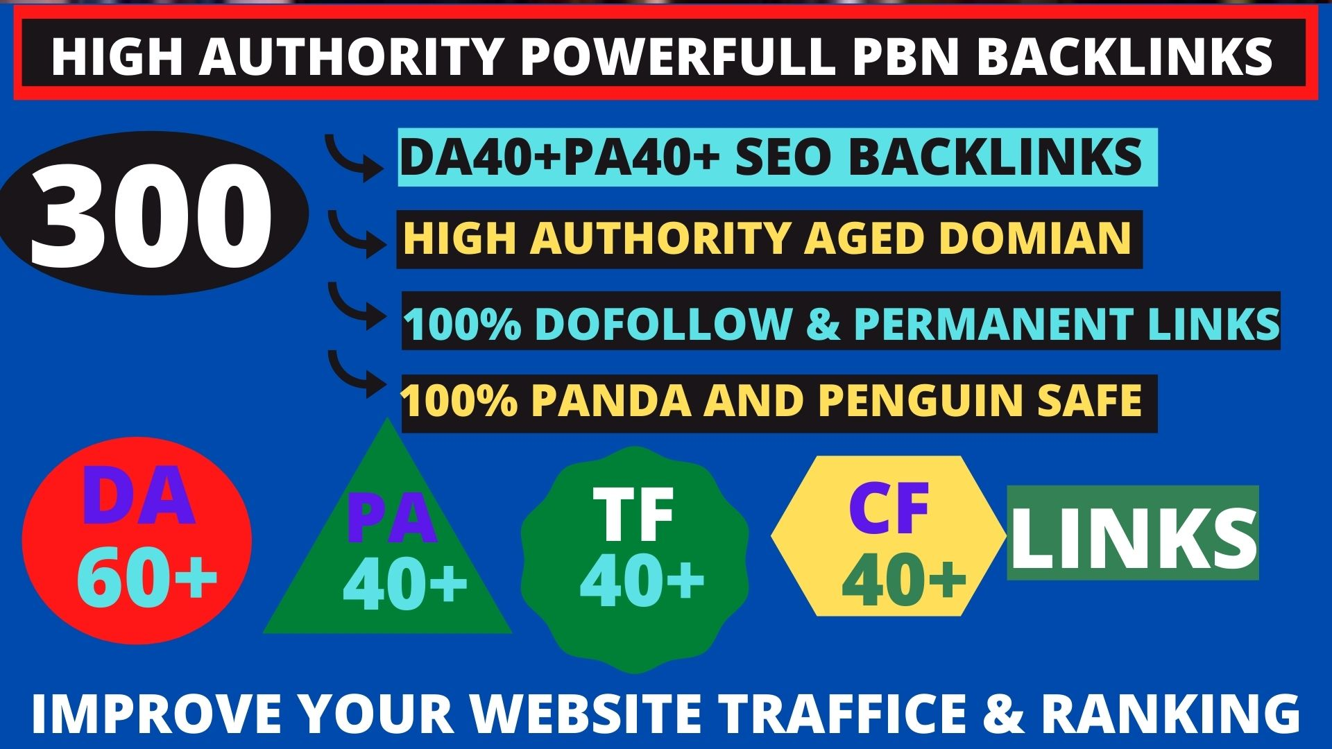 I will manually do 300+ PR8+ DA 60+ Safe SEO High Pr Backlinks 2021 Best Results