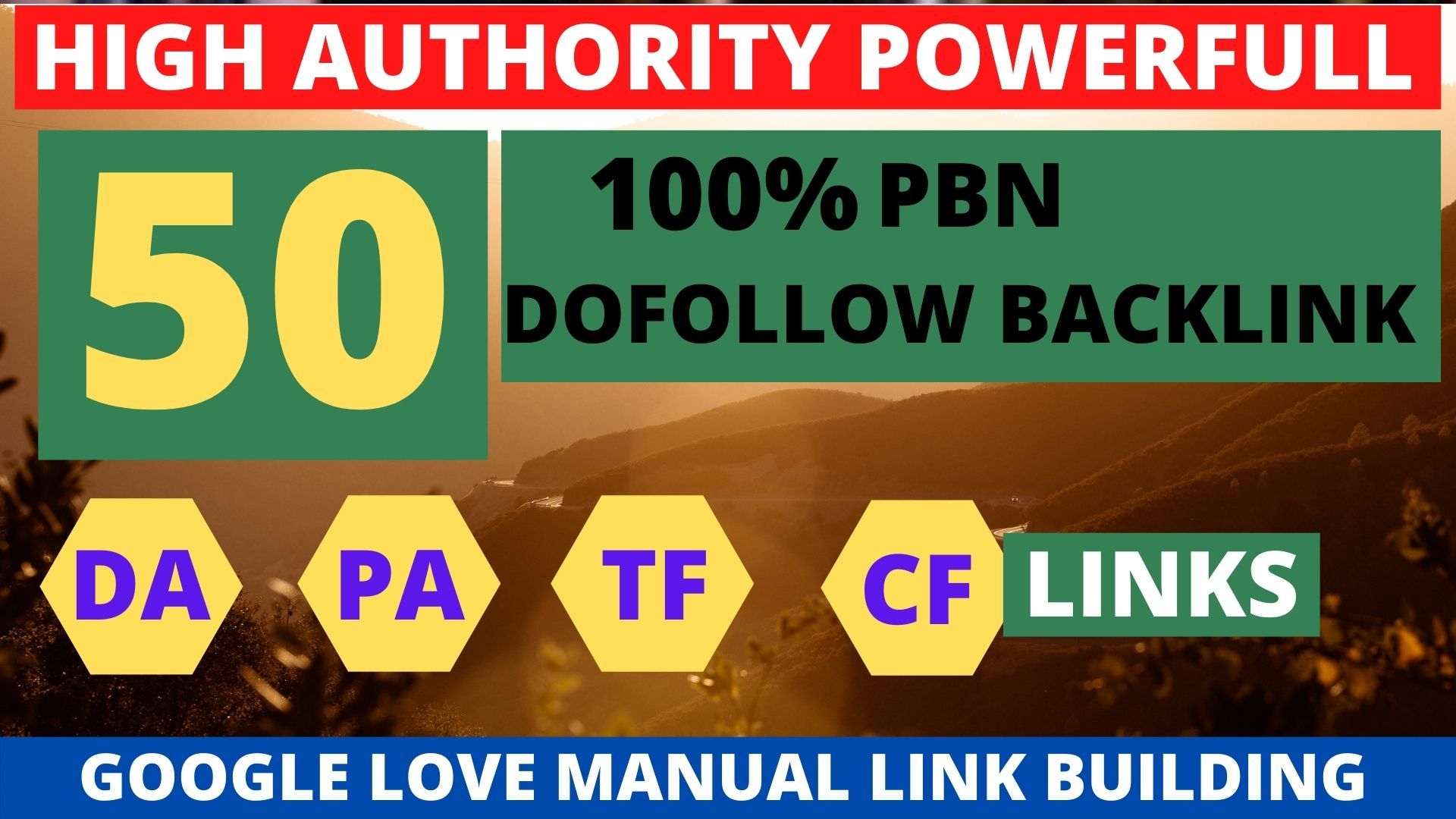 Get powerfull 50+ pbn backlink with high DA/PA/TF/CF on your homepage with unique website