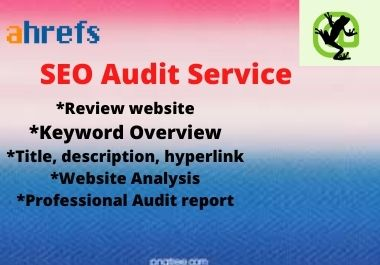 Providing professional Website audit report by Ahrefs & Screaming Frog