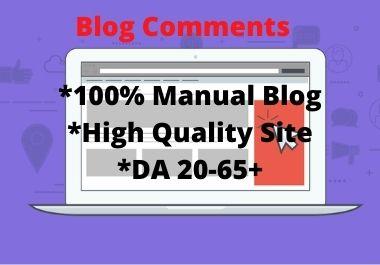 I will post Niche relevant Blog Comment on high DA Site