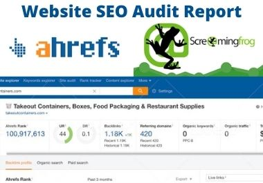 I will provide website SEO audit report with screamingfrog and ahrefs