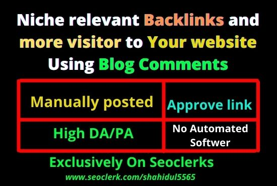 I will create 100 do-follow niche relevant blog comment backlinks