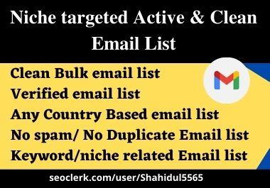 3k valid and clean niche email list for email marketing