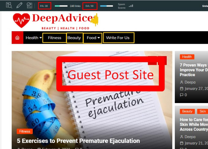 I'll Publish Dofollow Health Guest Post On High DA Website
