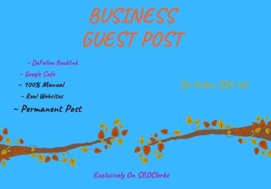 I will publish business guest post service on my blog with dofollow link