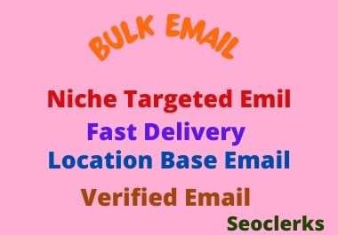 I will create Your Niche Targated Bulk Email List