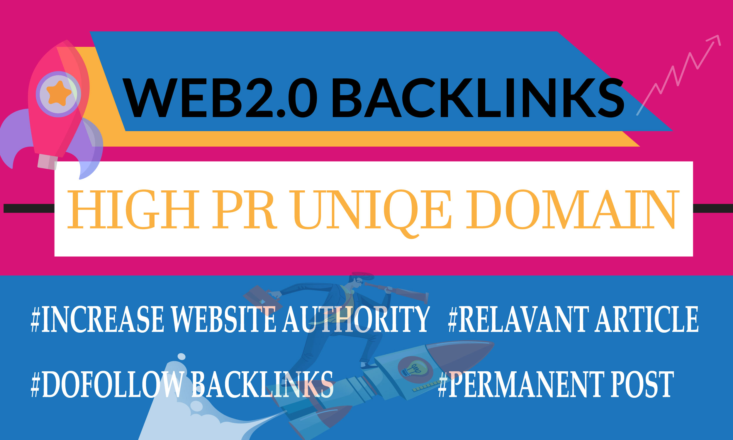 I will build high PR 20 web2.0 backlinks manually