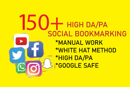 I will create manually high quality 150+ social bookmarking submission for HQ backlinks